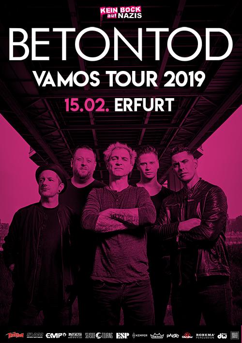 Betontod VAMOS Tour 2019 in Erfurt