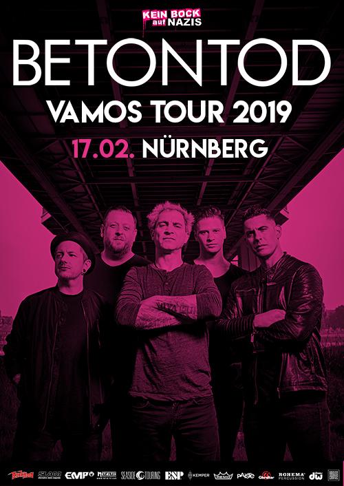 Betontod VAMOS Tour 2019 in Nürnberg
