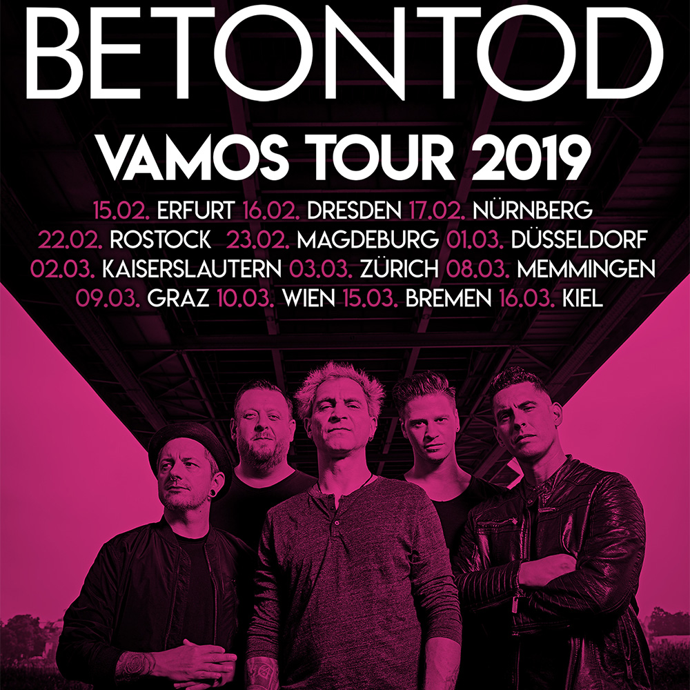 Alle Termine der VAMOS TOUR 2019 von Betontod