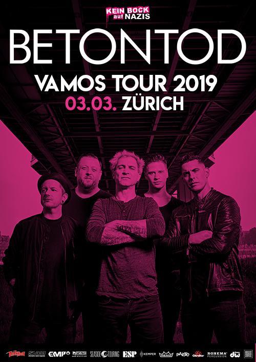 Betontod VAMOS Tour 2019 in Zürich